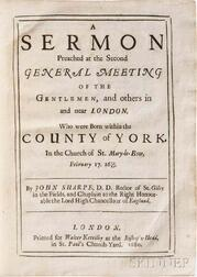 Collection of Sermons, England, 1679-1706.