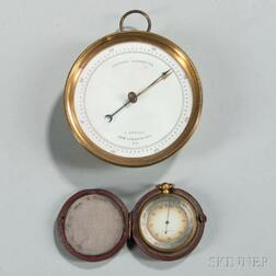 Brass-cased Aneroid Barometer by E. Kendall and a Pocket Barometer by George Rossiter