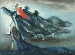 Pavel Tchelitchew (Russian/American, 1898-1957)      Group of Dancers in a Scene from L'Errante