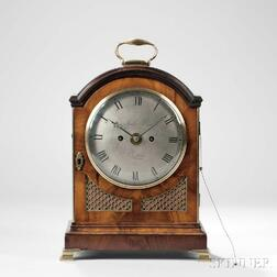 Richard Powis Mahogany Bracket Clock with Alarm