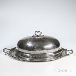 Two Pieces of English Silver-plated Tableware