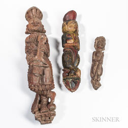 Three Figural Wood Carvings