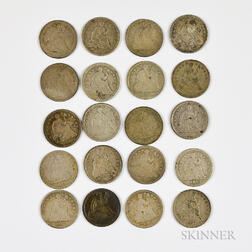 Twenty Seated Liberty Half Dimes
