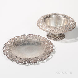 Gorham Sterling Silver Center Bowl and Undertray