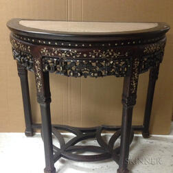 Mother-of-pearl Inlaid Demilune Table