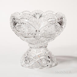 Brilliant-cut Glass Two-part Punch Bowl
