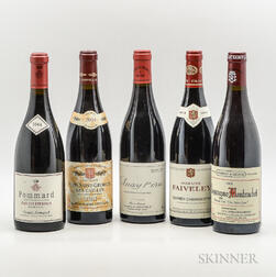 Mixed Burgundy, 5 bottles