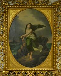 European School, 19th Century      Personification of Hope/Woman Holding an Anchor