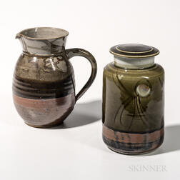 Gerry Williams Pitcher and Covered Cannister
