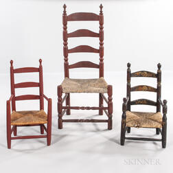 Three Slat-back Chairs