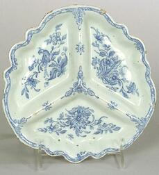 Delftware Blue and White Sweetmeat Dish