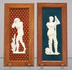 Two Wedgwood Victoria Ware Tile Plaques