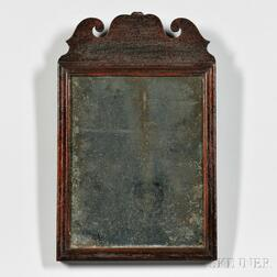 Small Queen Anne Mahogany Mirror