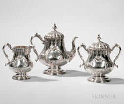 Three-piece Silver Tea Service