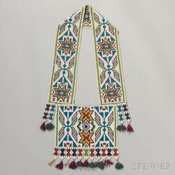 Winnebago Loom-beaded Bandolier Bag