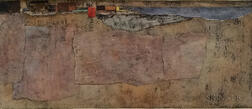 Joseph Peter Gualtieri (American, 1916-2015)      Abstract Coastal View Collage