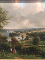 George Lafayette Clough (New York, 1824-1901), Springside, the Summer Home of the John Newcomb Knapp Family on Owasco Lake, Near Aubu