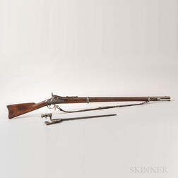 U.S. Model 1868 Trapdoor Rifle and Bayonet