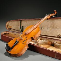Cased Horse Head-carved Violin