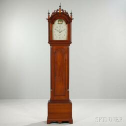 New England Cherry Tall Clock with Wooden Movement
