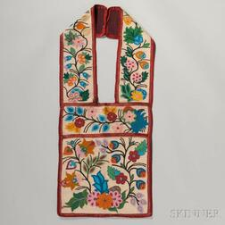 Ojibway Beaded Cloth Bandolier Bag