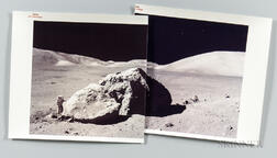 Apollo 17, Tracy's Rock, December 13, 1972, Two Photographs.