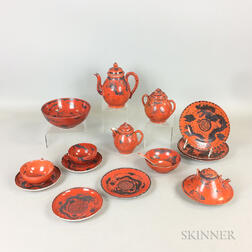 Sixteen Pieces of Chinese Export Porcelain Teaware.     Estimate $20-200