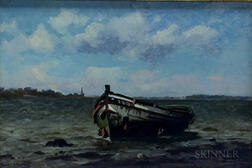 Walter Franklin Lansil (American, 1846-1933)    Beached Dory