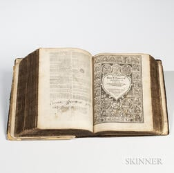 Bible, English, Book of Common Prayer, Old and New Testament.