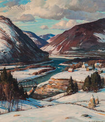 Aldro Thompson Hibbard (American, 1886-1972)      Vermont River Valley in Winter
