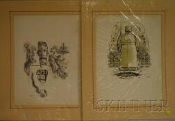 After George Grosz (German/American, 1893-1959)      Lot of Two Unframed Photomechanical Prints.