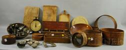 Large Lot of Country Wooden and Metal Kitchen and Domestic Items