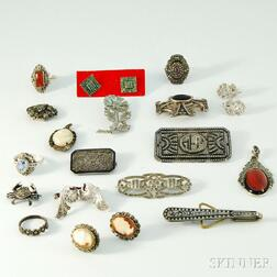 Group of Gray Marcasite Jewelry