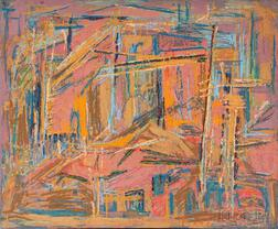 Pleasant Ray McIntosh (American, 1897-1985)    Construction Yard