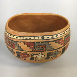 Pre-Columbian Painted Pottery Bowl