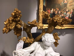 Pair of Dore Bronze-mounted Sevres Bisque Figural Groups
