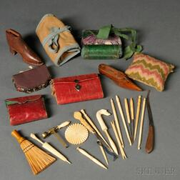 Group of Needlework and Household Accessories