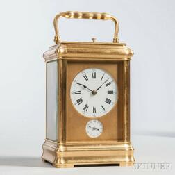 French Grand Sonnerie Carriage Clock with Alarm