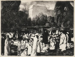 George Bellows (American, 1882-1925)      In the Park, Light