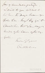 Holmes, Oliver Wendell Jr. (1841-1935) Autograph Letter Signed, 20 March 1900.
