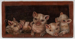 American School, Late 19th Century      Piglets