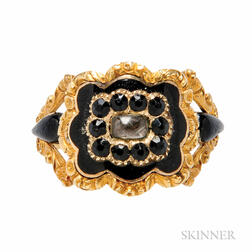 Antique 18kt Gold Mourning Ring