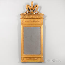 Continental Neoclassical-style Gilded Mirror