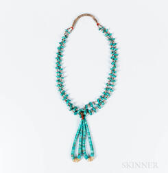 Two Strand Zuni Turquoise Necklace