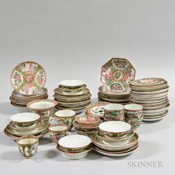 Approximately Sixty-five Pieces of Rose Medallion Ceramic Tableware