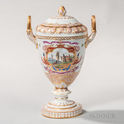 Hand-painted Porcelain Vase and Cover