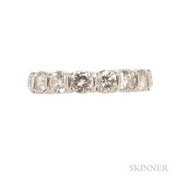 18kt Gold and Diamond Eternity Band