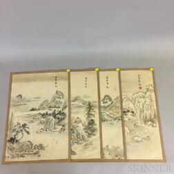 Set of Seven Landscapes