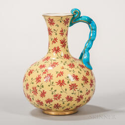 Minton Porcelain Imperial Yellow Ewer