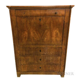 Biedermeier Maple Veneer Secretary Abattant